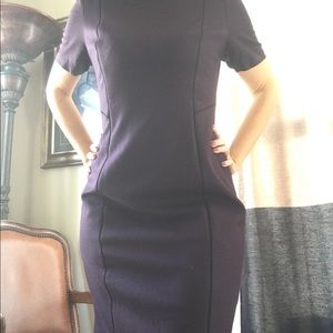 Wool blend deep purple dress
